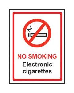No Smoking Electronic Cigarettes Sign - Window Sticker Vinyl