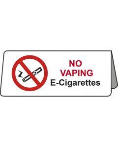 No Vaping E-Cigarettes Tent Table Notice