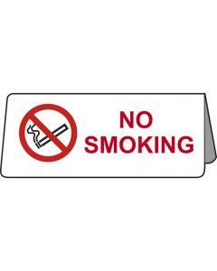No Smoking Tent Table Notice