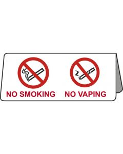 No Smoking & No Vaping Tent Table Notice