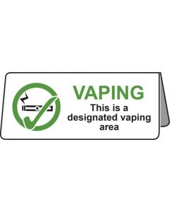 Vaping This Is A Designated Vaping Area Tent Table Notice
