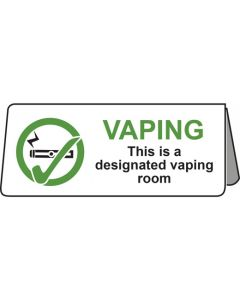 Vaping This Is A Designated Vaping Room Tent Table Notice