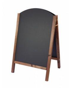 Reversible Curved Oak A-Frame Blackboard 80cm