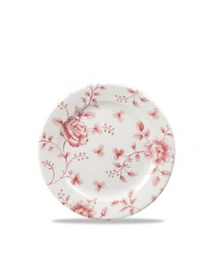 "Cranberry Rose Chintz Tea Plate 6.6"""