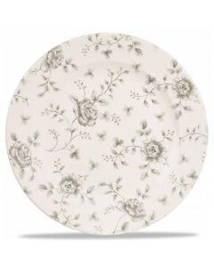 "Grey Rose Chintz Plate 10.9"""