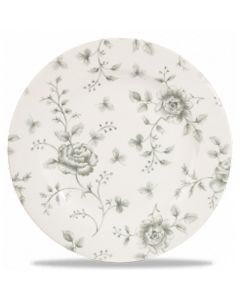 "Grey Rose Chintz Plate 6.6"""
