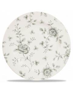 "Grey Rose Chintz Plate 8.25"""