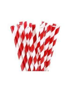 7.75 Red Paper Straws
