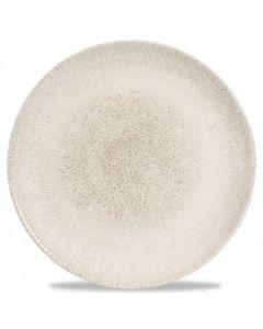 """Churchill Raku Coupe Plate 11.25"""" Agate Grey"""