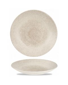 "Churchill Raku Deep Coupe Plate 10"" Agate Grey"
