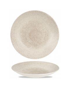 "Churchill Raku Deep Coupe Plate 11"" Agate Grey"