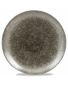 "Churchill Raku Coupe Plate 6.5"" Quartz Black"