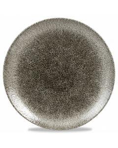 "Churchill Raku Coupe Plate 8.6"" Quartz Black"