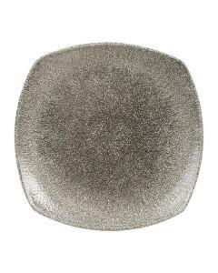 "Churchill Raku Square Plate 8.5"" Quartz Black"