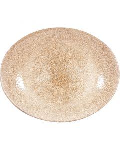 "Garnet orange Oval Coupe Plate 12.5"""