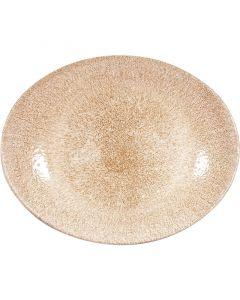"Garnet orange Oval Coupe Plate 10.625"""