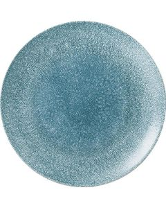 "Churchill Raku Coupe Plate 11.25"" Topaz Blue"