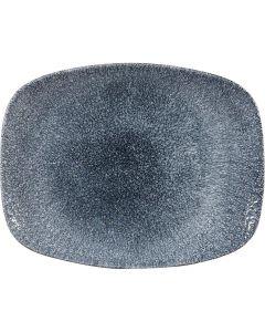 """Topaz Blue Chefs' Oblong Plate 10.25"""""""