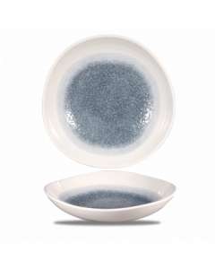 "Topaz Blue Organic Round Bowl 10"""