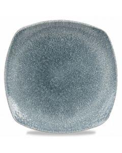 "Churchill Raku Square Plate 8.5"" Topaz Blue"