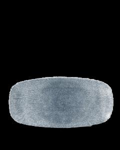 """Topaz Blue Chefs' Oblong Plate 10.5"""""""