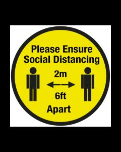 Non Slip Please Ensure Social Distancing Floor Graphic