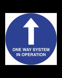 Non Slip One Way System Floor Graphic