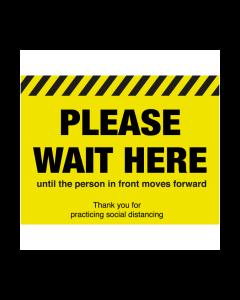 Non Slip Please Wait Here Floor Graphic