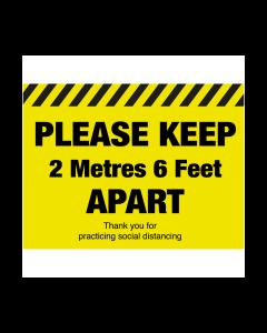 Non Slip Please Keep Apart Floor Graphic