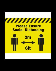 Non Slip Please Ensure Socials Distancing Floor Graphic