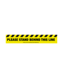 Non Slip Please Stand Behind This Line Floor Graphic