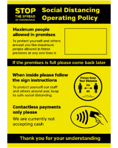 Contactless Only Social Distancing Policy Posters