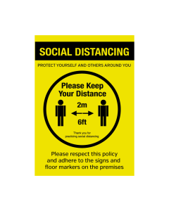 Please Keep Your Distance Social Distancing Policy Notice