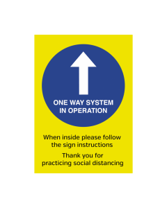 One Way System in Operation Notice