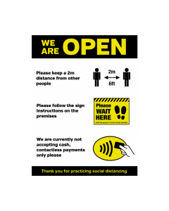 We Are Open Customer Notice