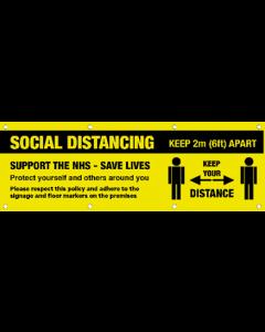 10ft x 4ft Social Distancing Banner