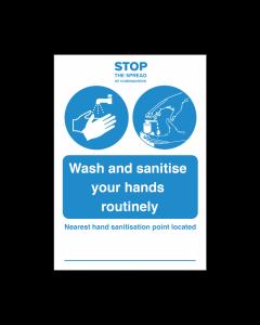 Nearest Hand Sanitisation Point Vinyl Sticker Notice