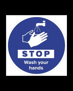 Non Slip Stop Wash Your Hands Floor Graphic