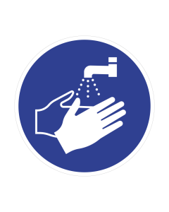 Non Slip Wash Your Hands Floor Graphic