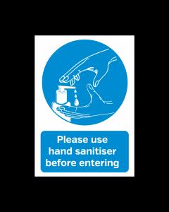 Please Use Hand Sanitiser Before Entering Vinyl Sticker