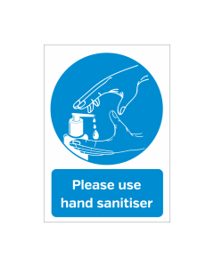 Please Use Hand Sanitiser Vinyl Sticker