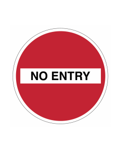 Non Slip No Entry Floor Graphic