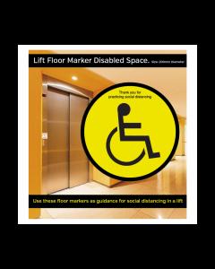 Disabled Symbol Social Distancing Lift Floor Graphic
