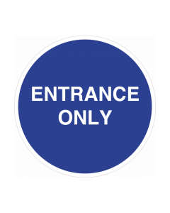 Non Slip Entrance Only Floor & Wall Graphic