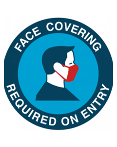 Face Covering Required on Entry - Vinyl Sticker