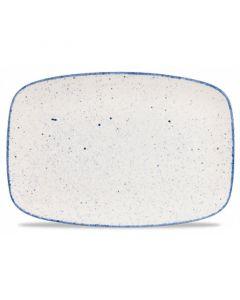 """Hints Indigo Blue Chefs Oblong Platter 14"""""""