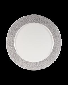 "Churchill Isla Footed Plate 10.8"" Shale Grey"