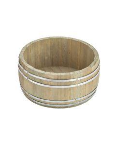 Short Miniature Wooden Barrel