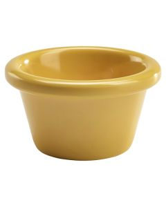 Smooth Yellow Melamine Ramekin 2oz