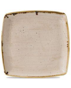 "Churchill Stonecast Deep Square Plate 10.5"" Nutmeg Cream"
